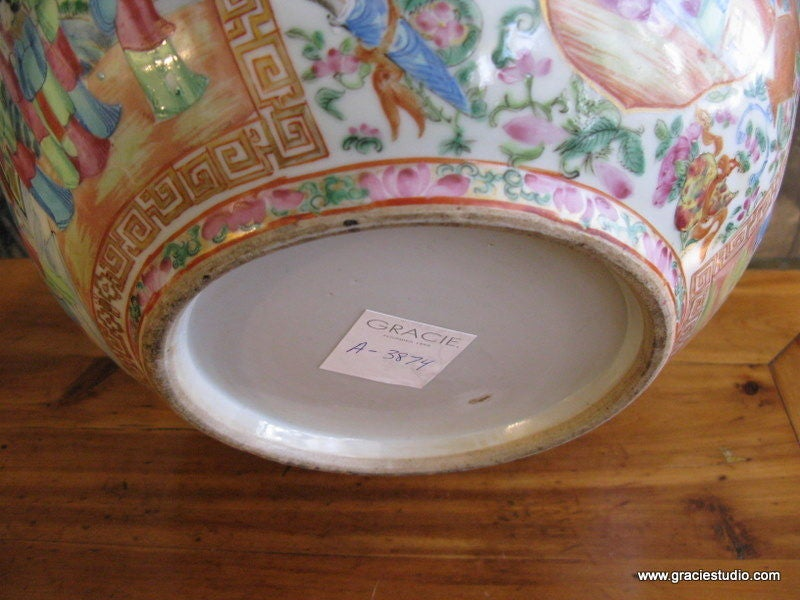 19th Century Chinese Rose Medallion Bowl 6