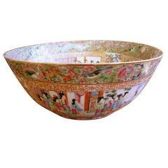 19th Century Chinese Rose Medallion Bowl