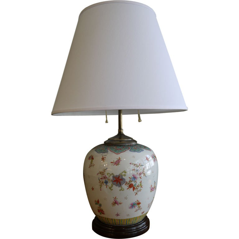 chinese famille rose ginger jar as lamp is no longer available. Black Bedroom Furniture Sets. Home Design Ideas