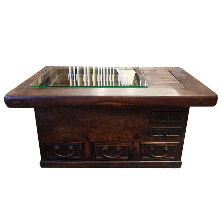 19th c japanese wood hibachi at 1stdibs for Coffee tables japanese style
