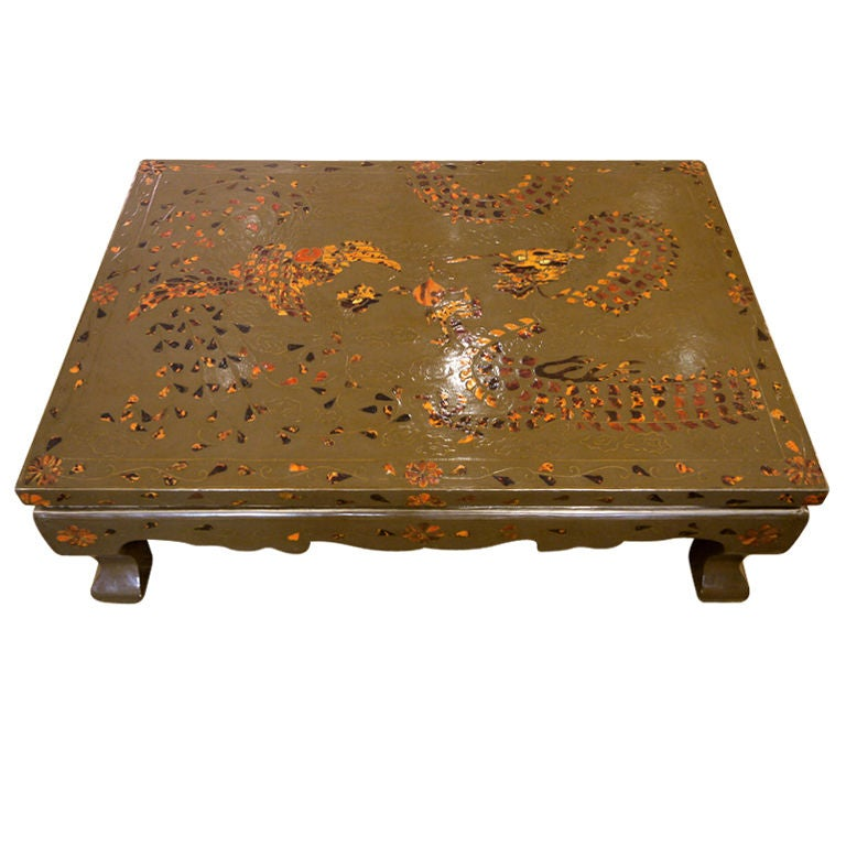 Korean Lacquer Table For Sale