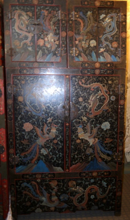 Pair of Large Lacquer Cabinets 2