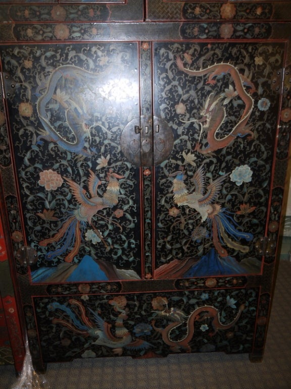 Pair of Large Lacquer Cabinets 3