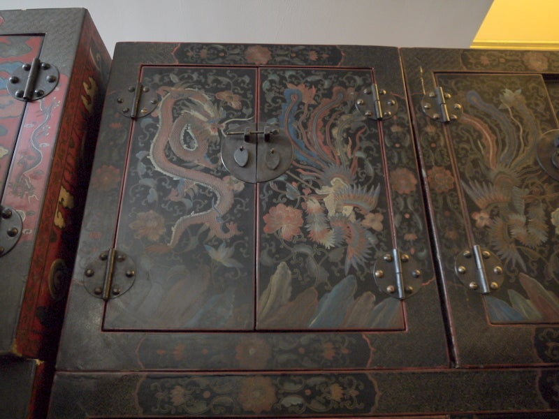 Pair of Large Lacquer Cabinets 7