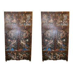 Pair of Large Lacquer Cabinets