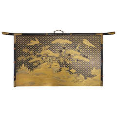 19th Century Japanese Lacquer Wall Plaque