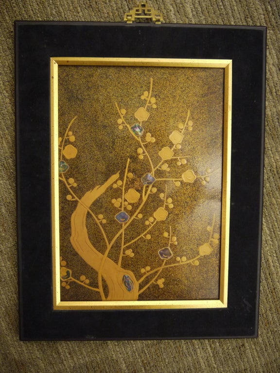 Japanese Lacquer Panel For Sale 3