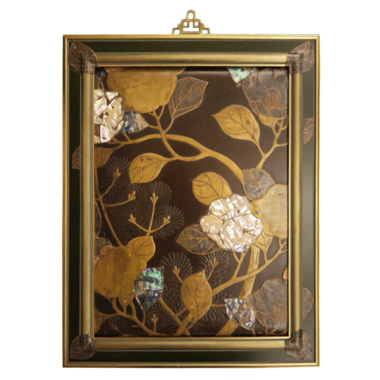 Japanese Lacquer Panel For Sale