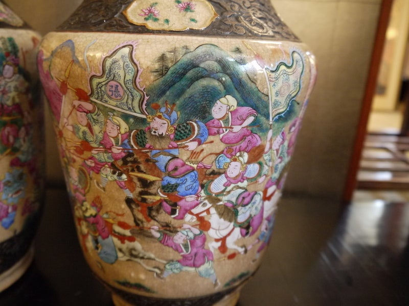Pair of Chinese Crackleware Vases For Sale 1