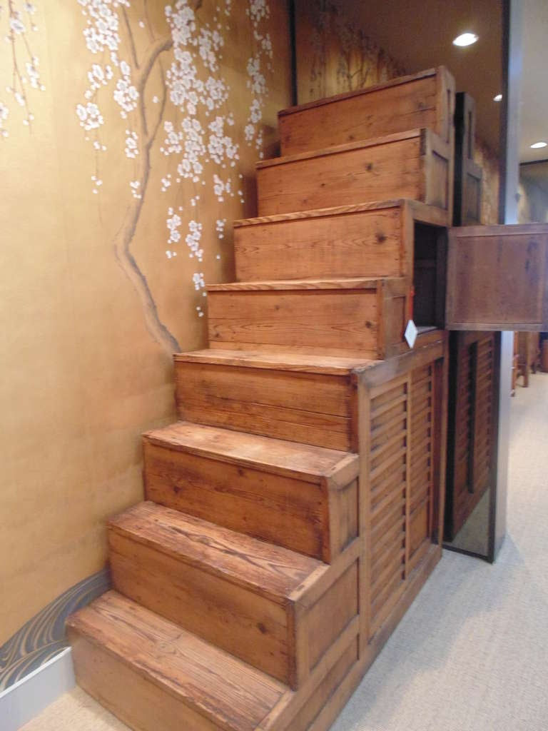 Meiji Period Japanese Staircase Tansu 3