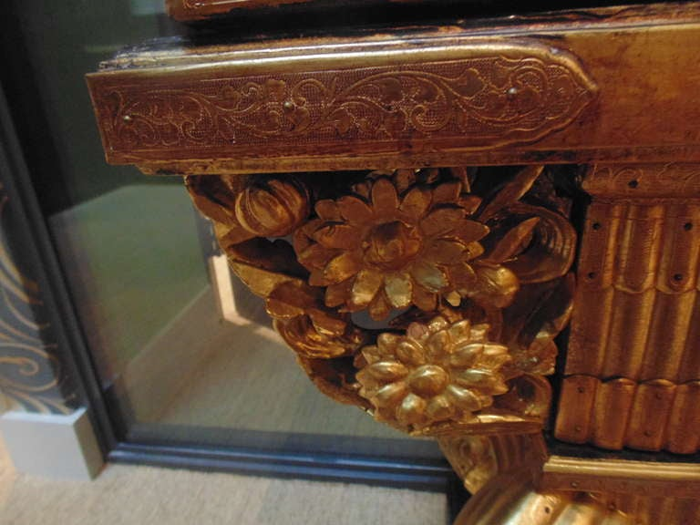 Wood Japanese Gilt Lacquered Altar Table For Sale