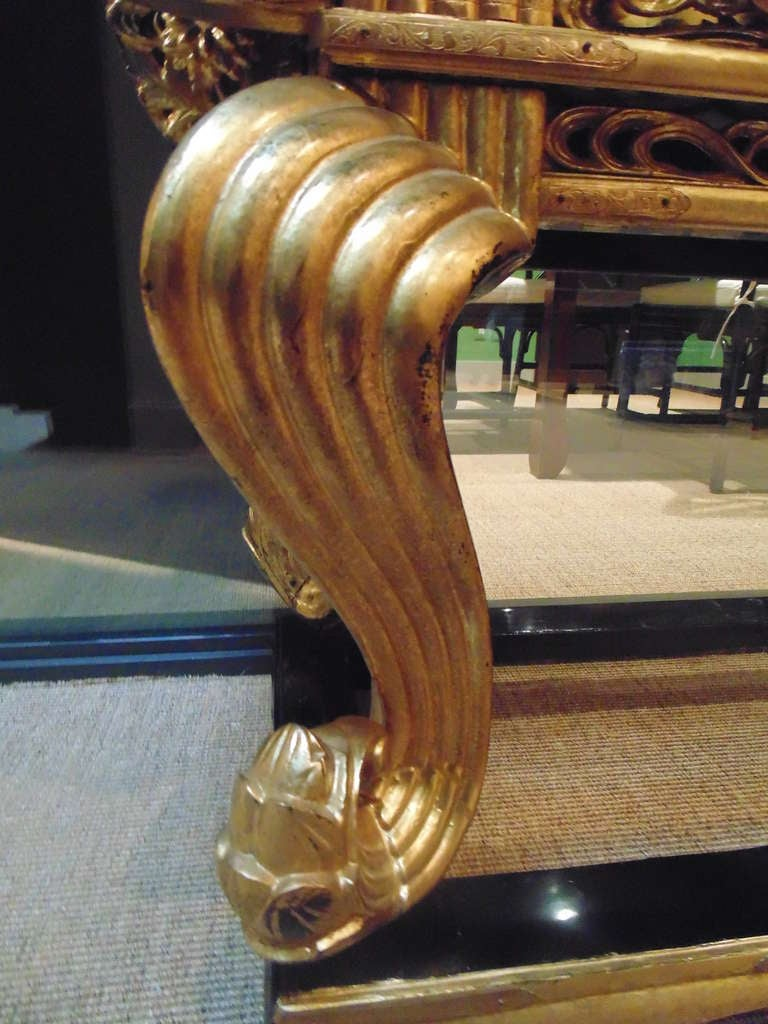 Japanese Gilt Lacquered Altar Table For Sale 1