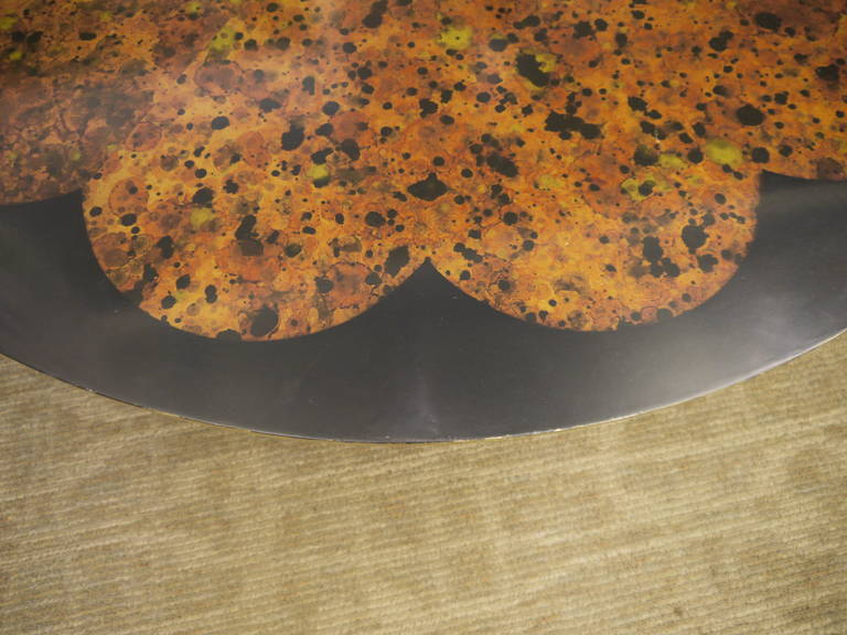 American Vintage Lotus Coffee Table by Muller and Barringer For Sale