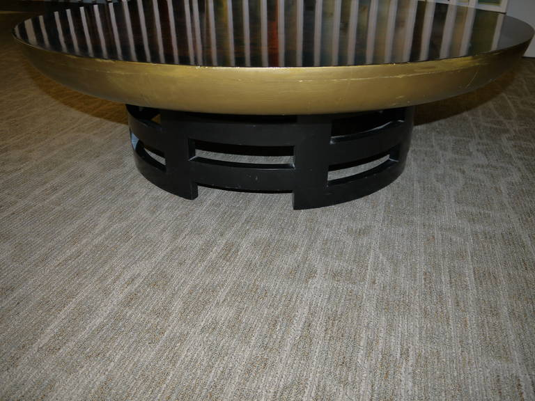 Wood Vintage Lotus Coffee Table by Muller and Barringer For Sale