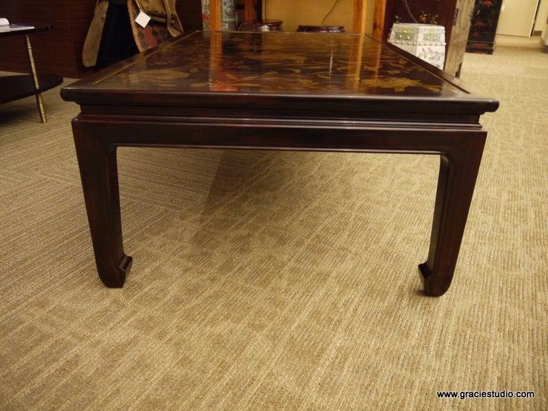 Contemporary Chinoiserie Lacquer Coffee Table For Sale