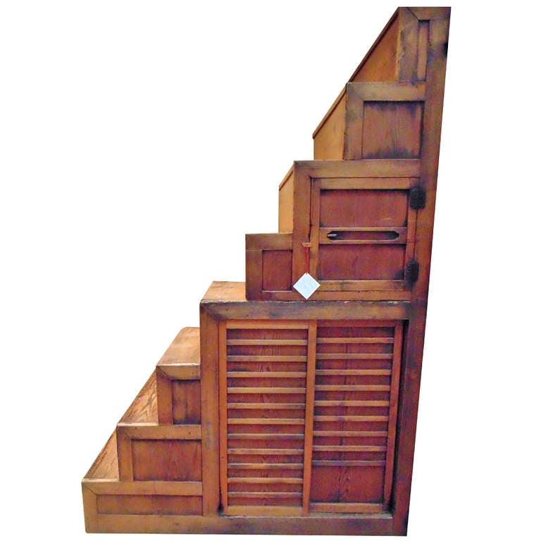 Meiji Period Japanese Staircase Tansu For Sale