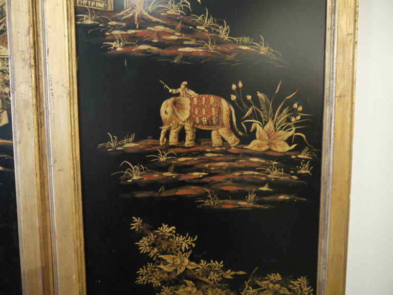 Unknown Pair of Tall Chinoiserie Wall Panels For Sale