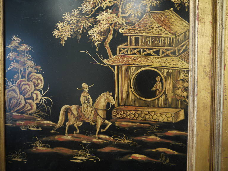 Pair of Tall Chinoiserie Wall Panels In Good Condition For Sale In New York, NY