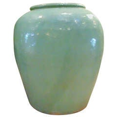 Large Chinese Glazed Jar