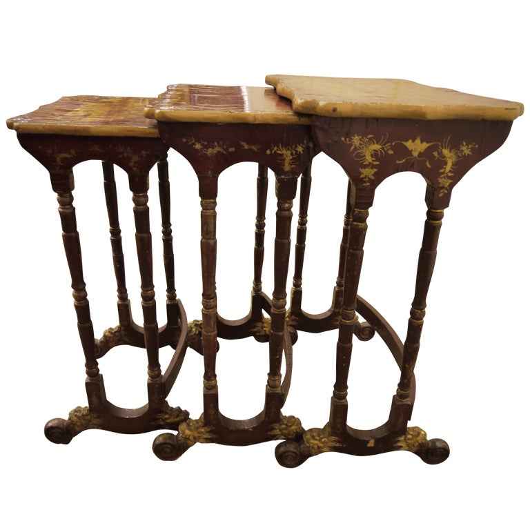 Set of Chinoiserie Nesting Tables
