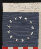 Entirely Hand-Sewn 13 Star Flag Made by Rachel Albright, Granddaughter of Betsy Ross image 3
