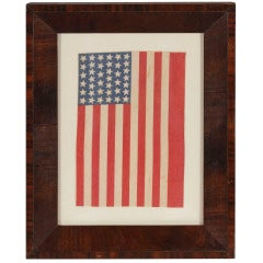 39 Star Antique American Flag, Probably 1876, Never an Unofficial Star Count