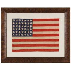 42 Stars, 1889-1890, An Unofficial Star Count, Washington Statehood Flag