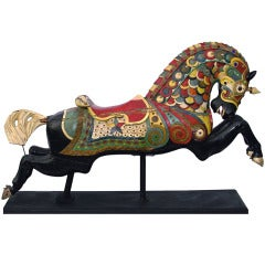 Armored Carousel Horse made by C.W. Parker in Leavenworth, Kansas circa 1915