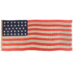 34 Star Civil War Recruiting Flag Made Under Military Contract