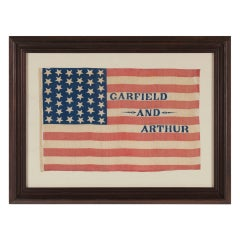 Rare Antique American Politcal Flag, 1880 Campaign of James Garfield