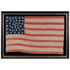 36 Star Homemade Flag of the Civil War Era