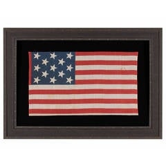 Very Rare Printed Example of a 13 Star Flag, 1876-1898