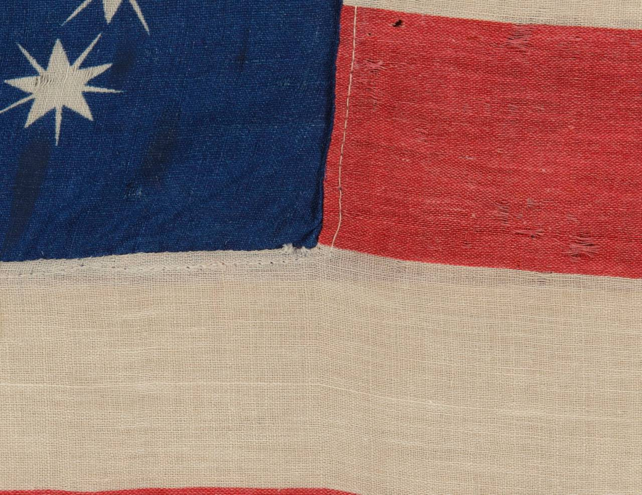 """Antiques American Flag with Ten-Pointed Stars That Spell """"1776-1876"""" 3"""