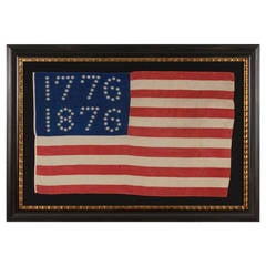 "Antiques American Flag with Ten-Pointed Stars That Spell ""1776-1876"""