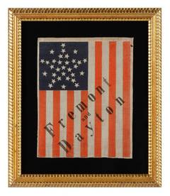 31-Star Antique American Flag, 1856 Campaign of John Frémont, California