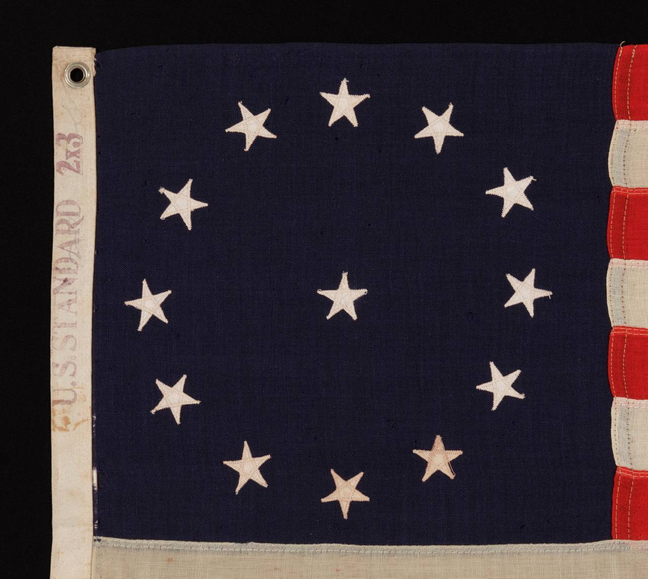 13 Star Third Maryland Pattern Flag In Good Condition In York County, PA