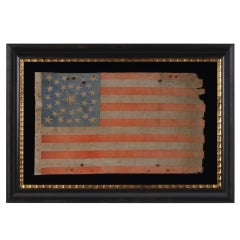 31 Star Antique American Flag, California Statehood, 1850-58, Very Rare
