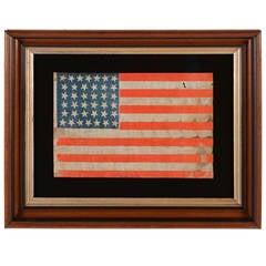 38-Star, Colorado Statehood Antique American Flag