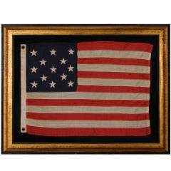 13 Star Antique American Flag with a 3-2-3-2-3 Pattern, 1895-1926