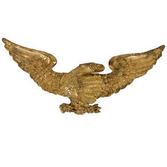 Pressed Brass Eagle, an Early Parade Flag Holder and Bunting Tie Back