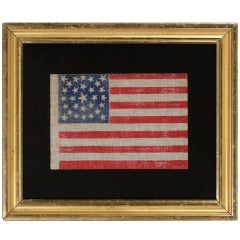 29 Star Antique American Flag, Medallion Configuration, Iowa Statehood, 1846-48