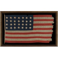 28 Star Antique American Flag, Extremely Rare, Texas Statehood, 1846-48