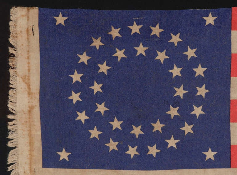 35 Star Antique American Flag, New York 71st Vol. Infantry Reunion, Civil War 3