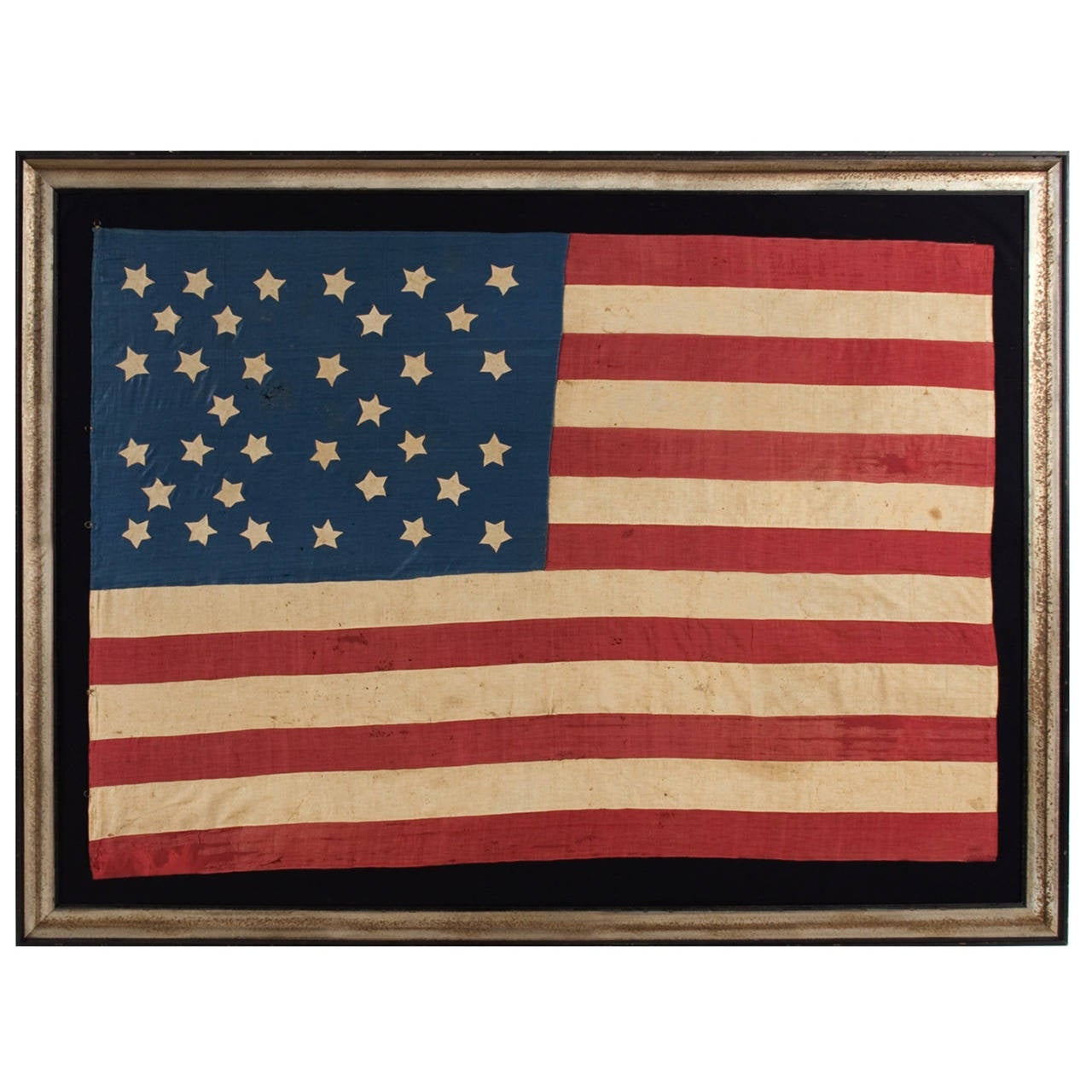 Homemade 34 Star Flag, Cornflower Blue, Interesting Configuration, 1861-1863 For Sale