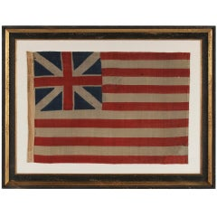 "Antique1876 Example of the First National Flag of America, The ""Grand Union"""