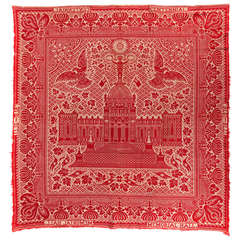 Red and White Coverlet Made for the 1876 Centennial Exposition in Philadelphia
