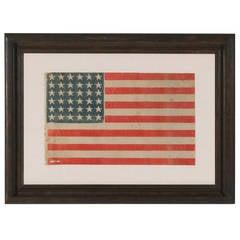36 Stars on a Civil War Era Parade Flag