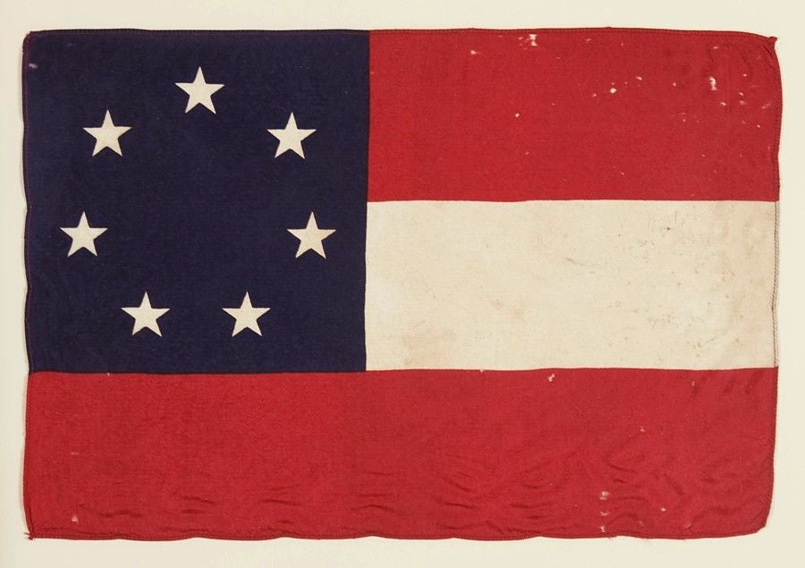 "CONFEDERATE 1ST NATIONAL, ""STARS & BARS"" PARADE FLAG image 2"