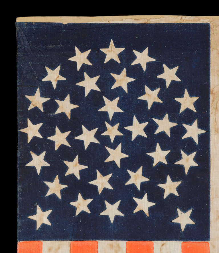 33 Stars In A Medallion Configuration On A Large Scale Parade Flag image 3