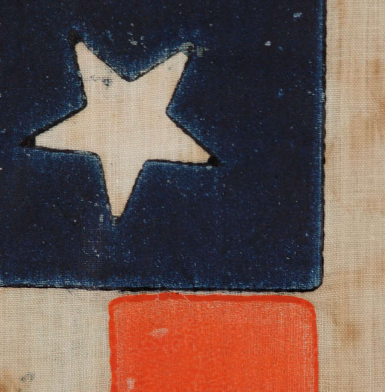 33 Stars In A Medallion Configuration On A Large Scale Parade Flag image 4